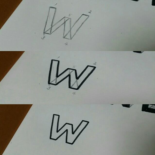 手書きレタリングのフォントの書き方のコツ