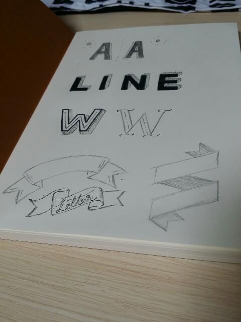 手書きレタリングの装飾フォントの種類