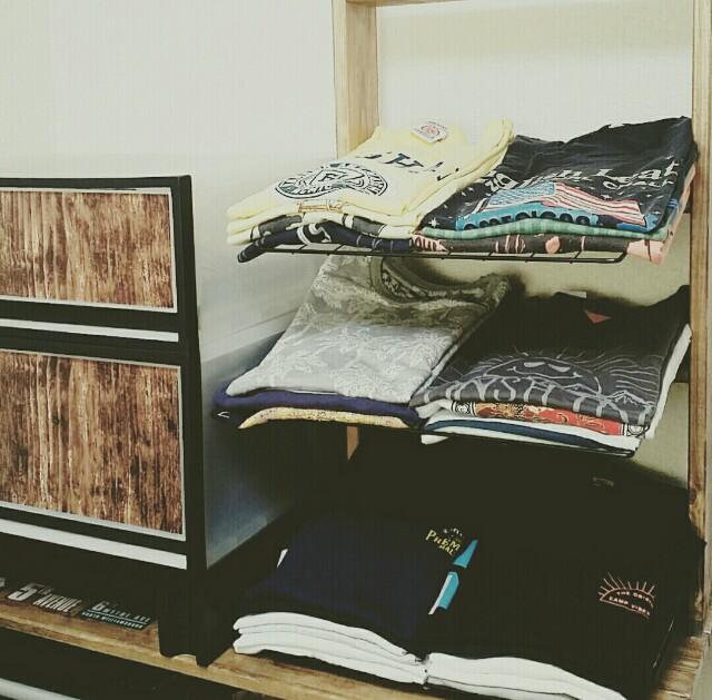 Tシャツ衣類収納棚
