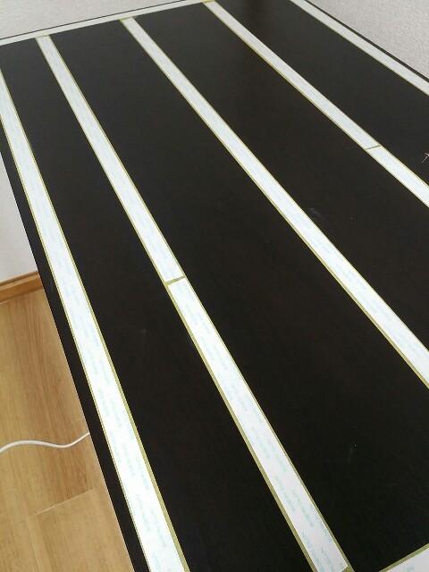 IKEAテーブルのマステ壁紙でのリメイク方法