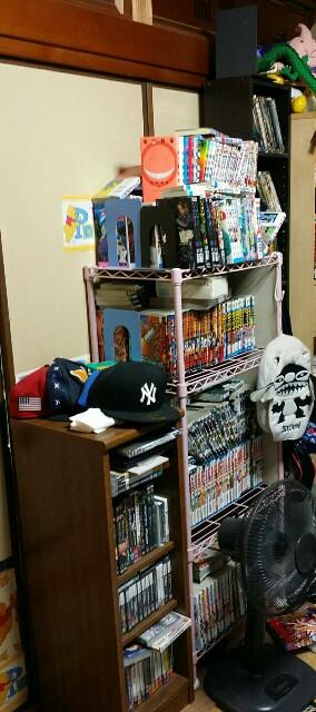 マンガの本棚の整理前