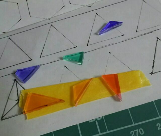 立体プラバンピアス