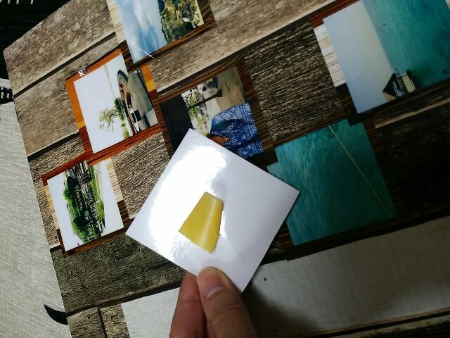 写真加工アプリの写真を貼って剥がせる方法