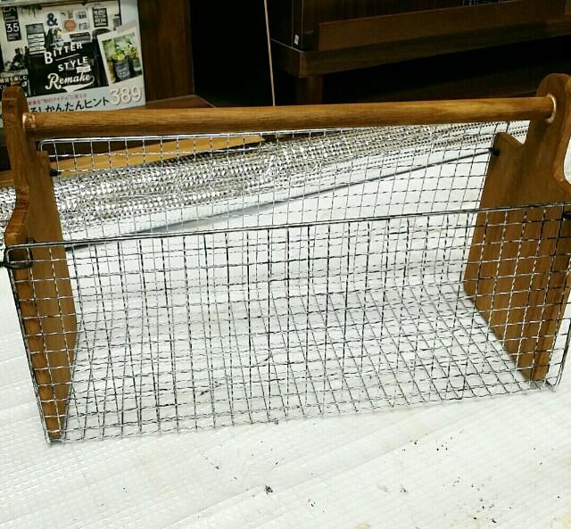 カッティングボードと焼き網の繋げる方法