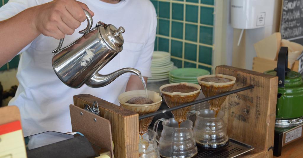 大阪のカフェのザコーヒータイム店内