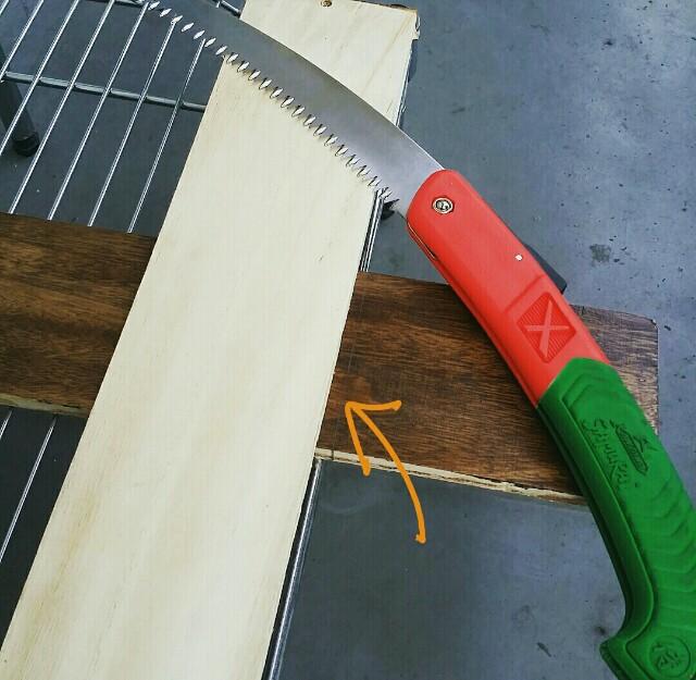 鋸の綺麗に切れる使い方