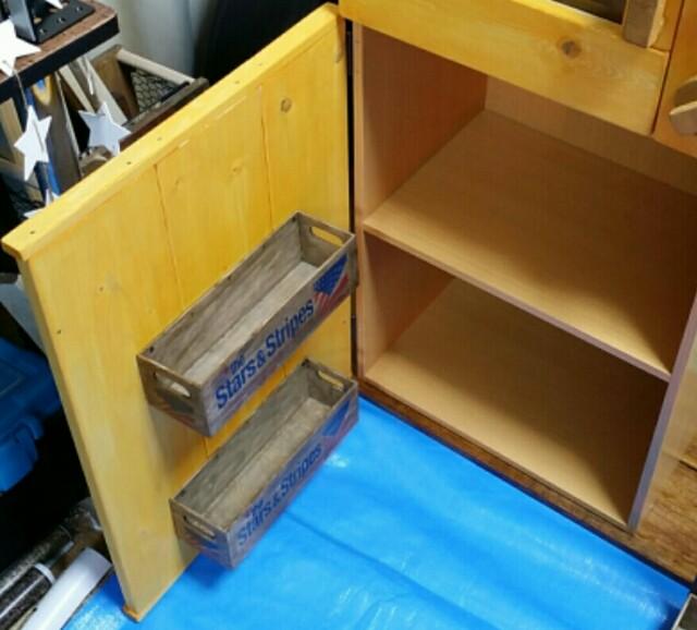 ままごとキッチンをダイソー木箱で作る