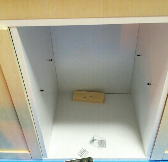 カラーボックスの棚受けの作り方