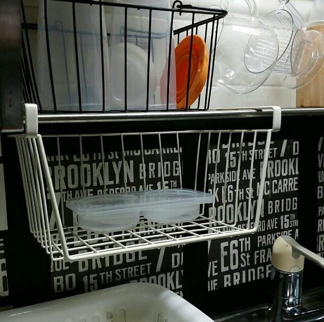 ワイヤーカゴを使った隙間収納の方法