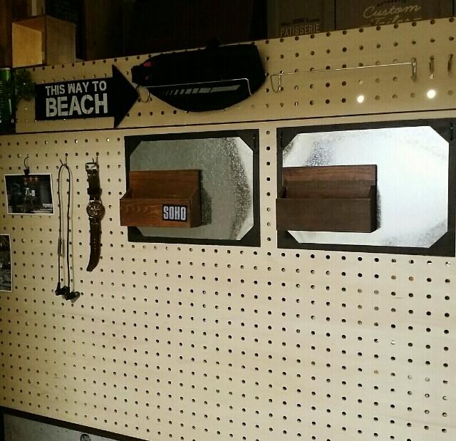 有孔ボードとセリアで見せる整理収納術