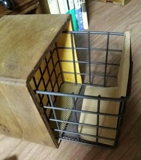 ワイヤーカゴを使った引き出し収納の作り方