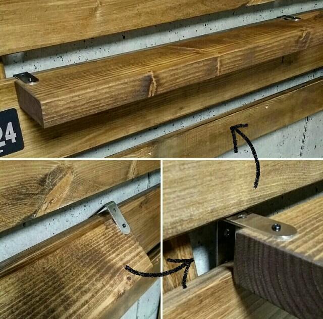 100均DIYで板張り壁に棚を作る