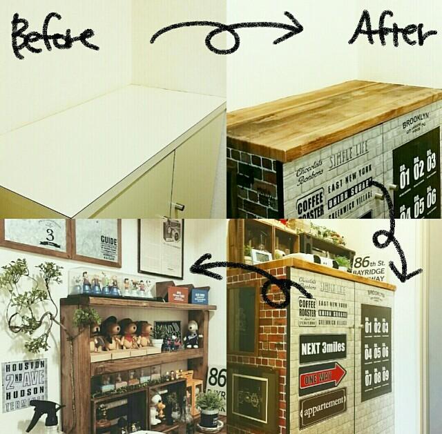 玄関の賃貸DIY実例