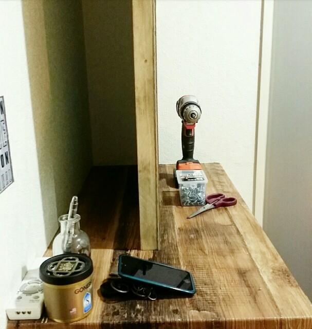 賃貸DIYで有孔ボードを固定する方法