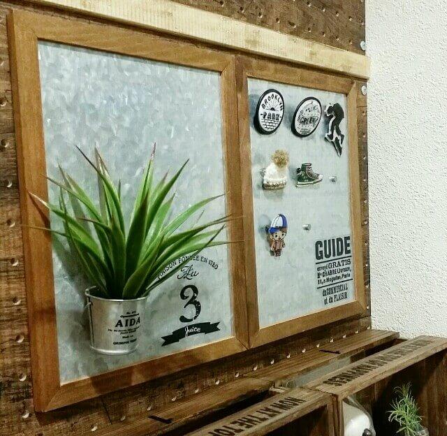 セリアのブリキフレームで100均DIY