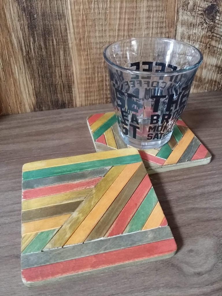 ヘリンボーンのコースターを作る100均DIY