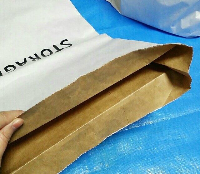 ペーパーバッグと米袋の折り方