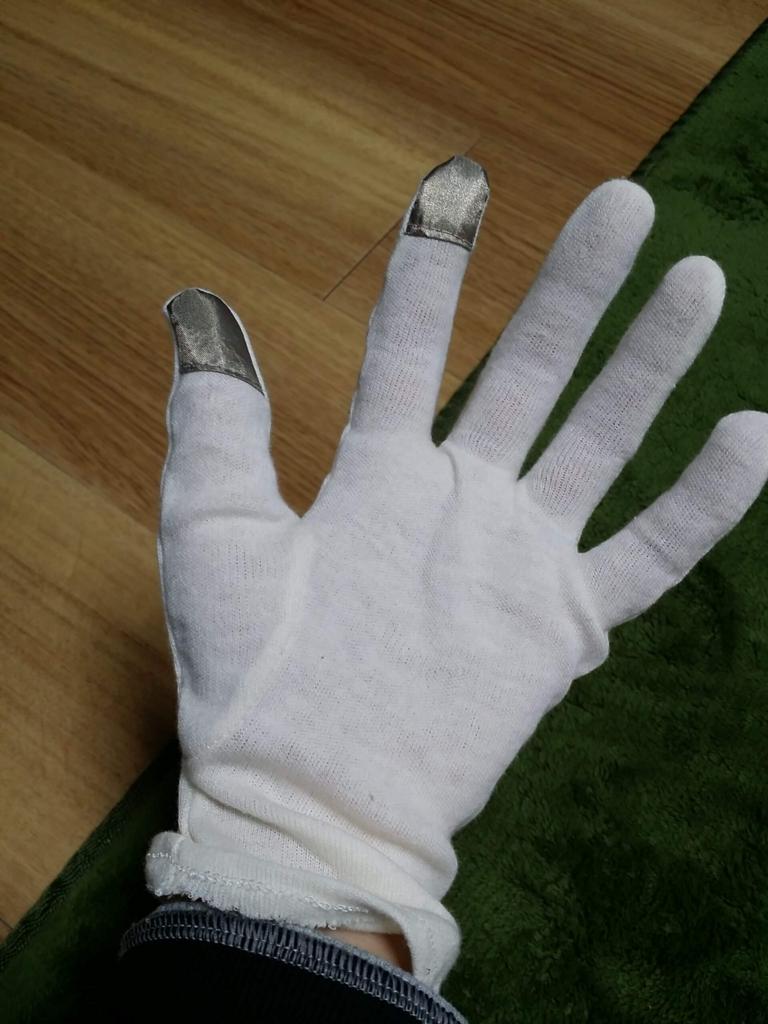 100均の手荒れ改善の保湿手袋