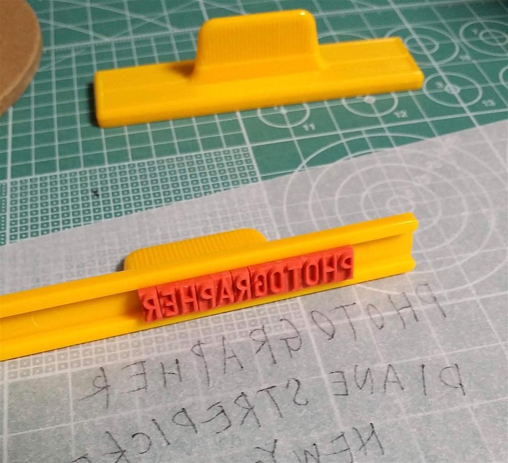 スタンプの文字を反転させて作る方法