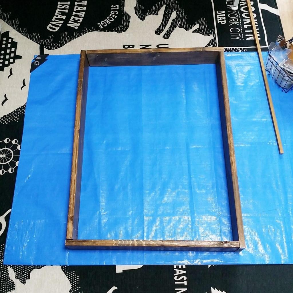 DIYで作る収納収納の木枠