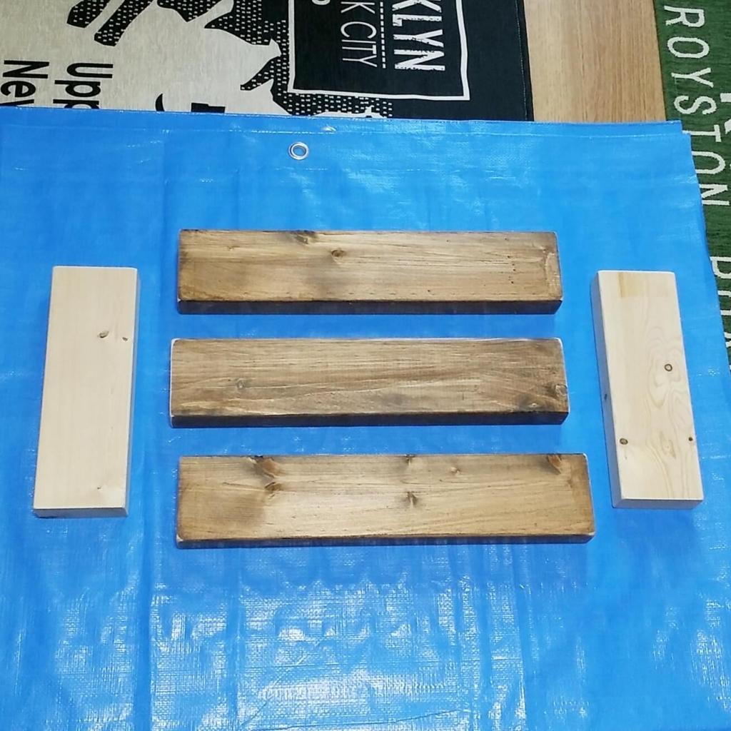 踏み台のDIYの木材パーツ