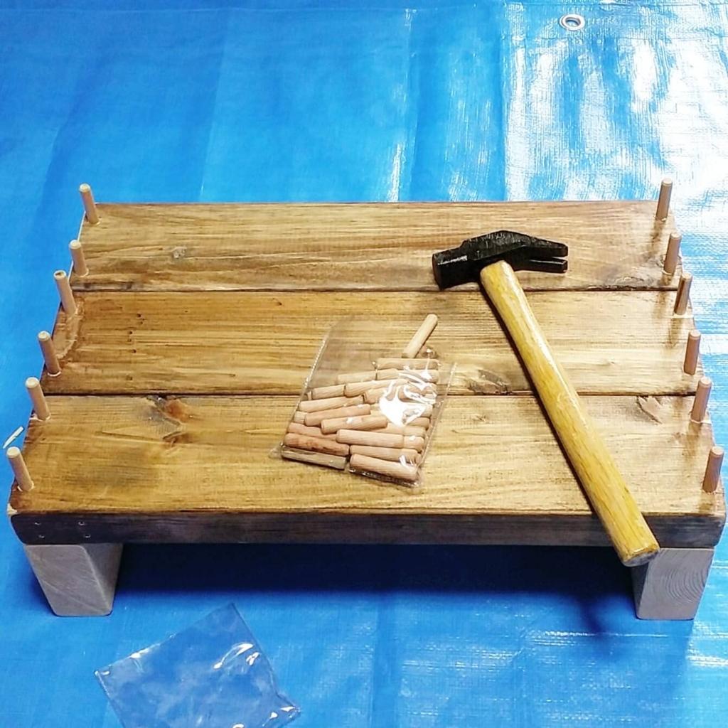 ダボ埋めDIYで作る踏み台とあぐらスツール