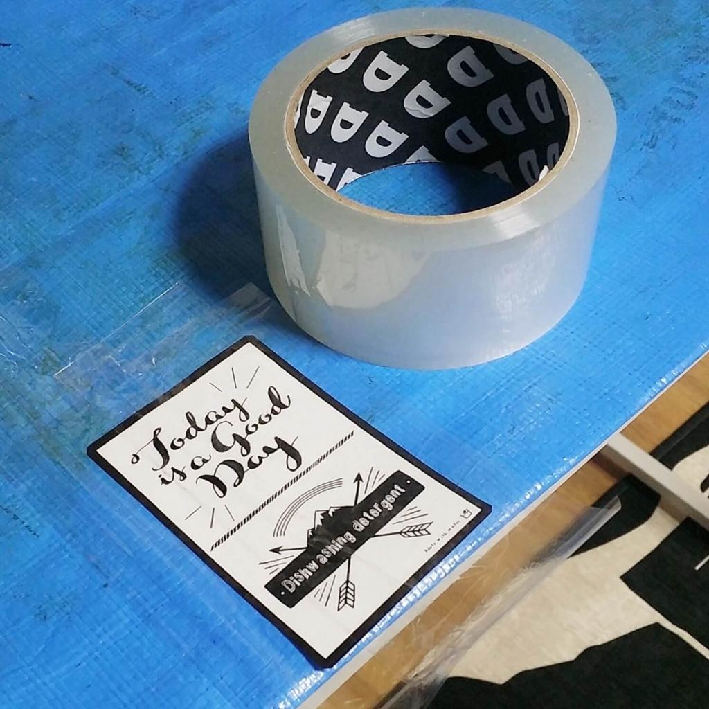 100均のビニールテープとラベルシールで防水対策する