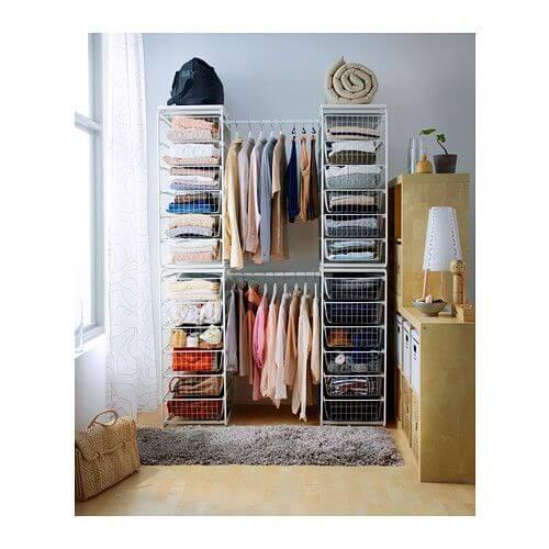 IKEAの衣類収納に使えるALGOTシリーズの使用参考例