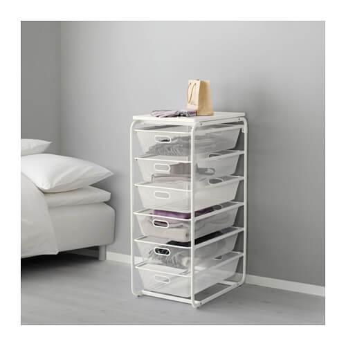IKEAのアルゴートシリーズのメッシュバスケット引き出し