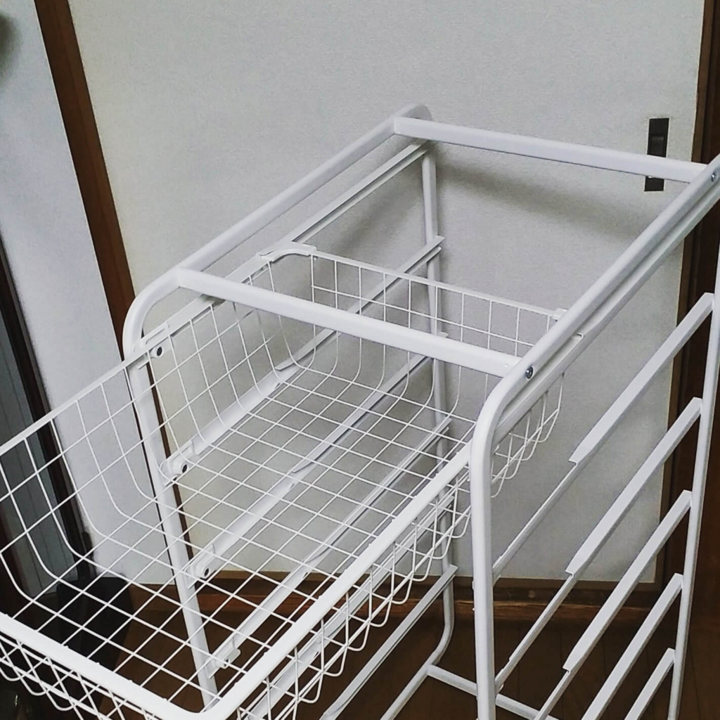 IKEAのワイヤーバスケット収納