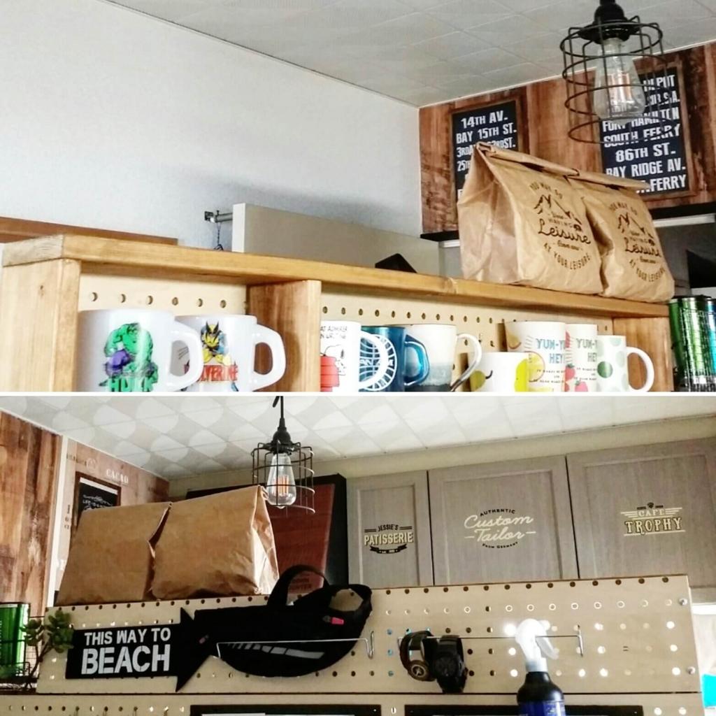 賃貸diyで作ったキッチン収納棚