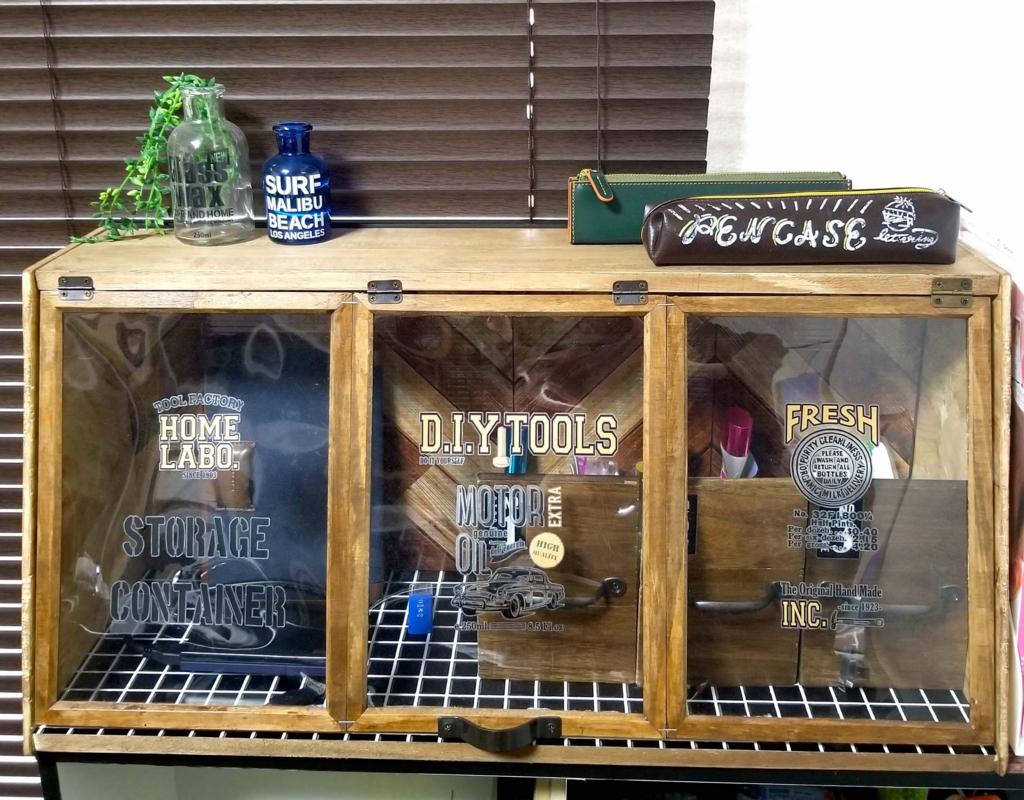 100均DIYで作ったカフェ風ガラスショーケース