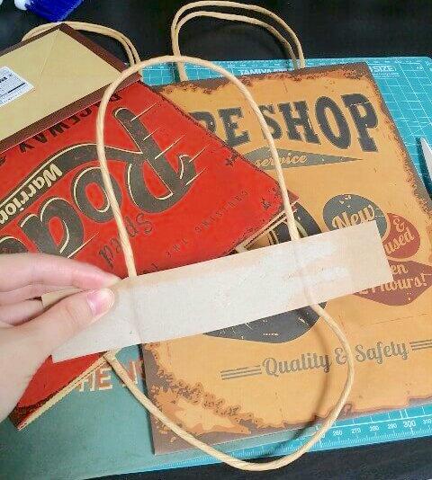 ダイソーのおしゃれなて紙袋をリメイクする