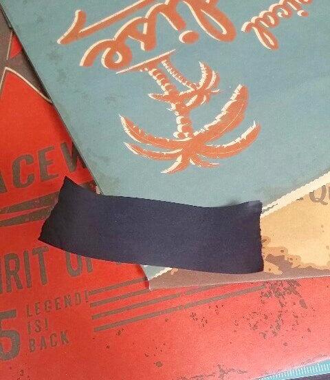 ダイソーの紙袋を黒のマスキングテープでアレンジする