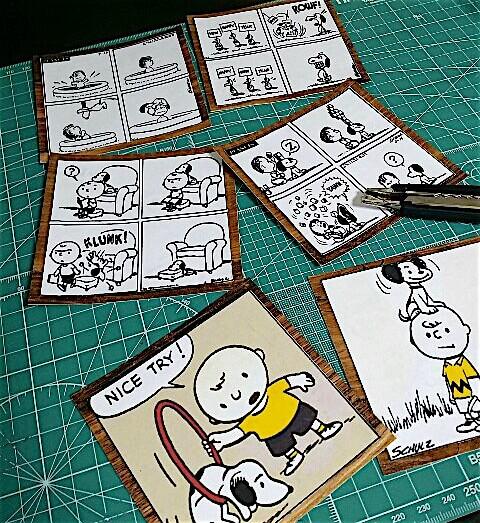 スヌーピーのイラストでDIYしたポストカード