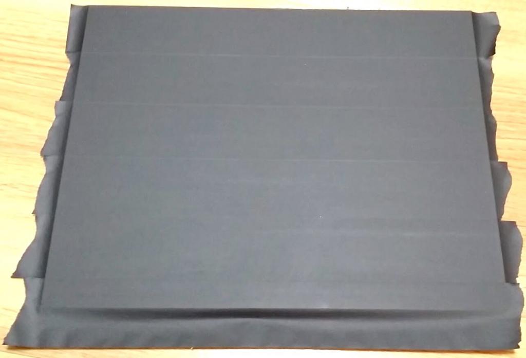 無印良品の板に貼ったマスキングテープ
