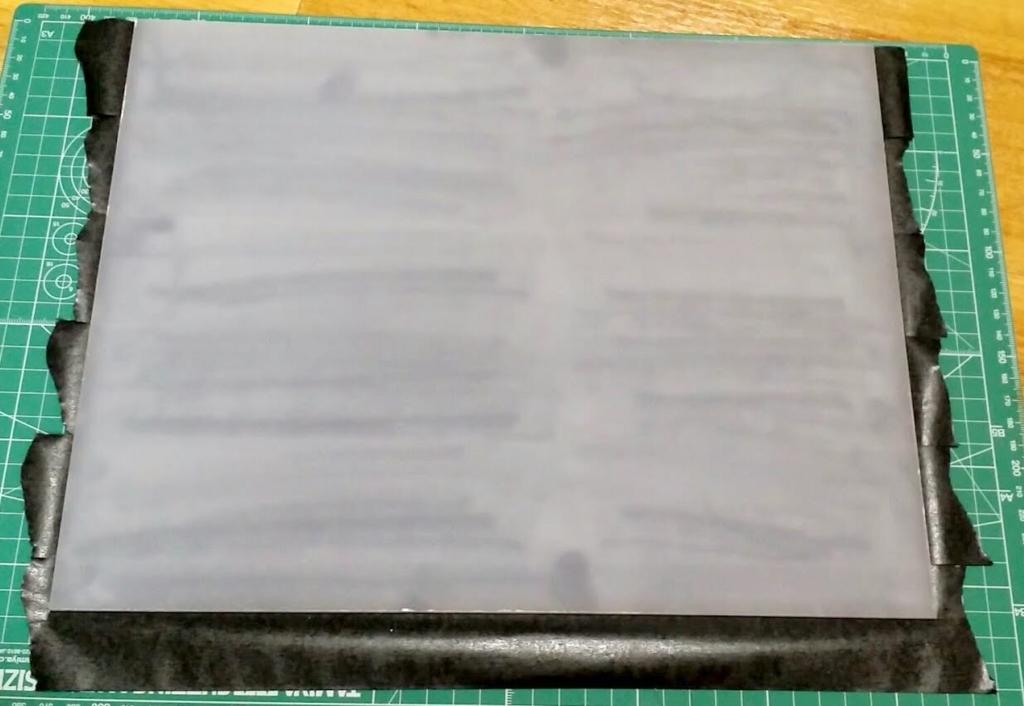 無印無印のアクリルケースの板に貼ったマステ