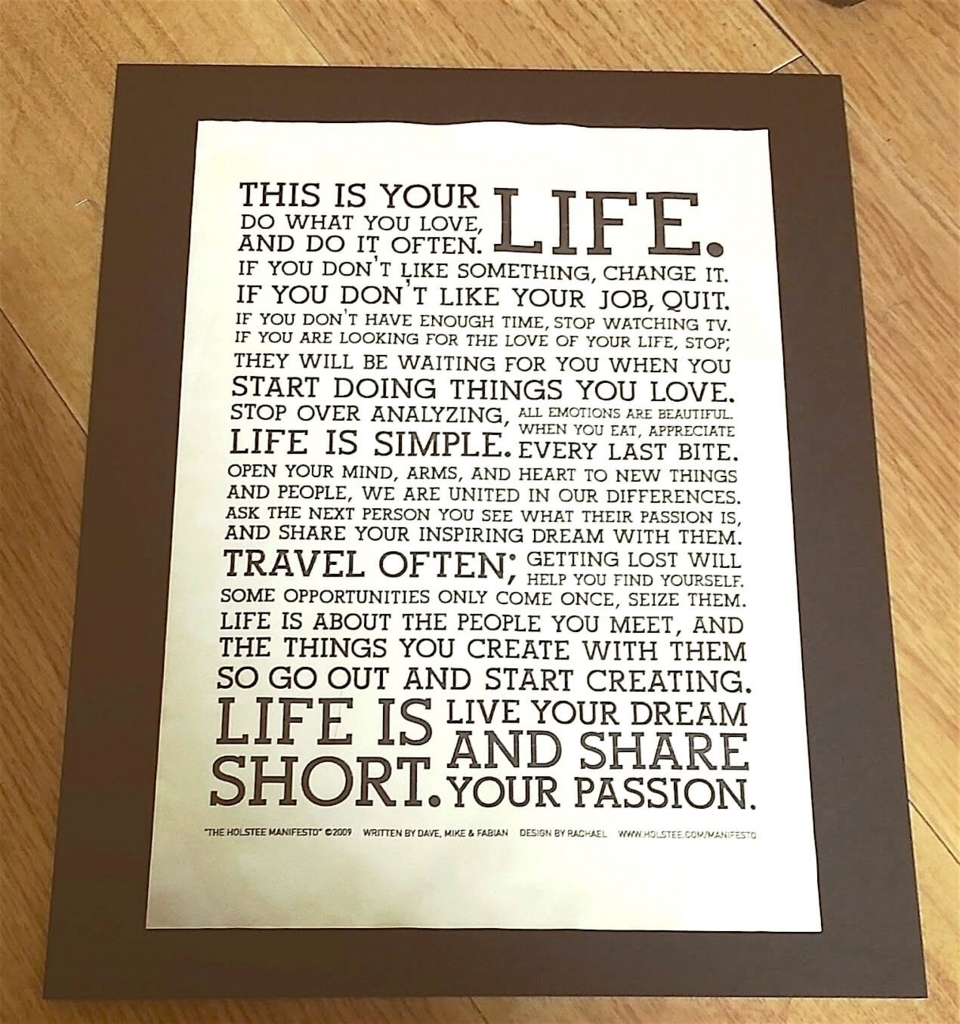 無料ダウンロード出来る「LIFE」ポスター