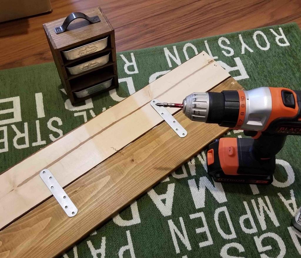 木材2枚を固定
