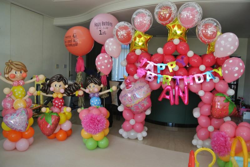 1歳誕生日装飾