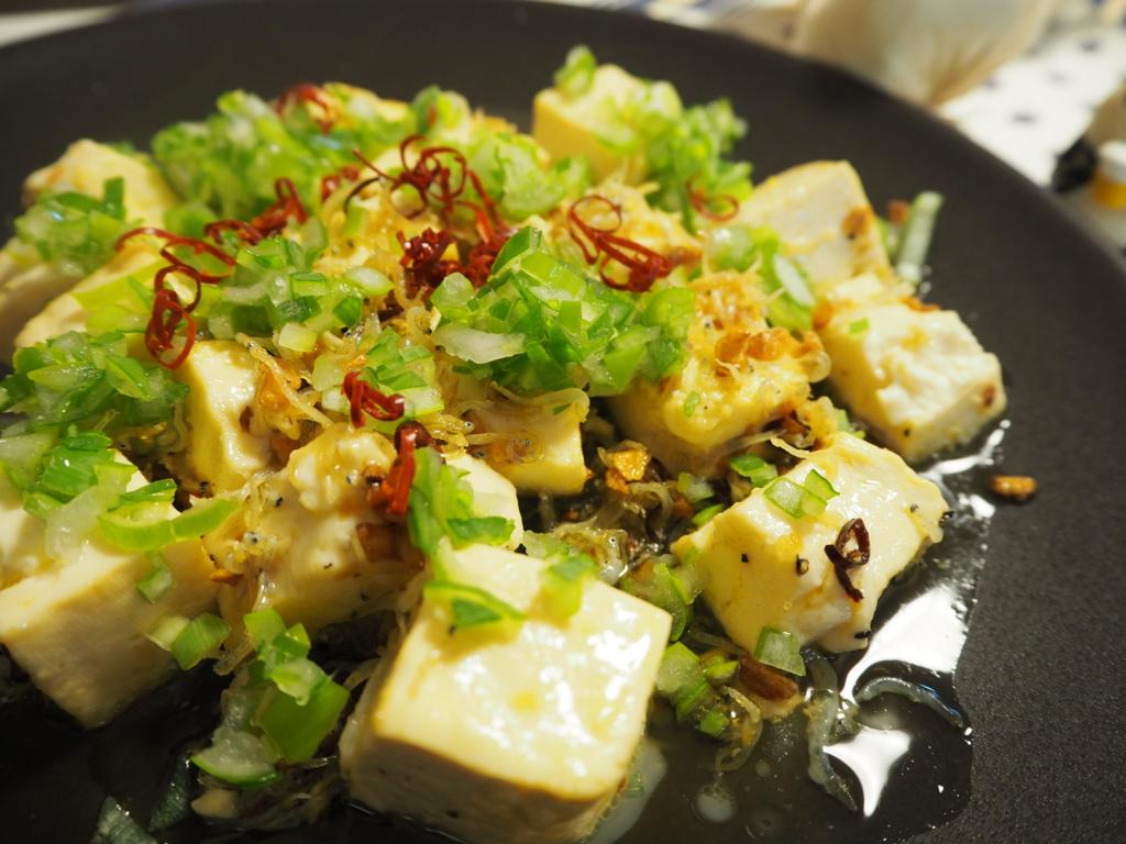 豆腐 豆腐ペペロンチーノ じゃこ豆腐