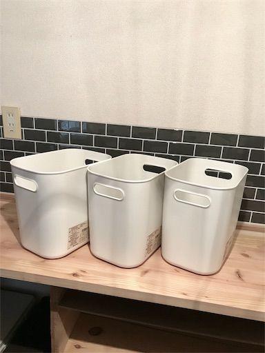 食器棚DIY リンゴ箱 やわらかポリエチレンケース
