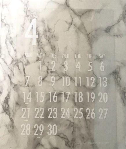 透明カレンダー モノトーン モノトーンインテリア