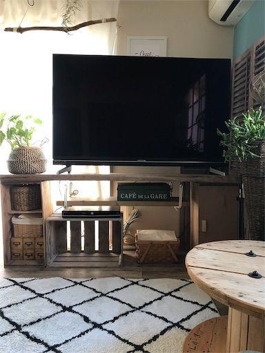 賃貸 テレビ台DIY 60inch TV