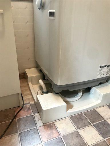 洗濯機下DIY 洗面所DIY 洗濯機下 排水溝隠し 賃貸洗面所DIY