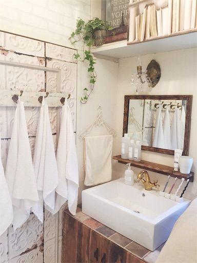 洗面所 洗面所DIY 洗面所インテリア 賃貸洗面所
