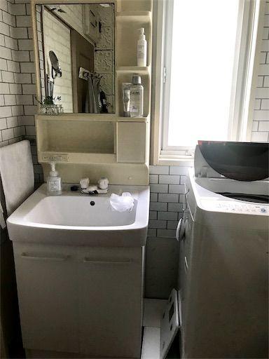 賃貸洗面所 洗面所DIY 洗面所インテリア すき間収納