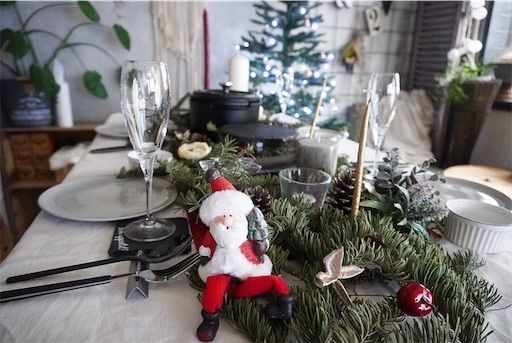 クリスマス クリスマスディナー テーブルコーディネート クリスマスパーティー