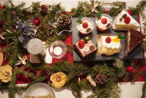 クリスマス クリスマスディナー テーブルコーディネート クリスマスケーキ
