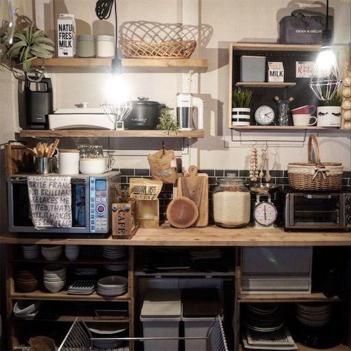 キッチンDIY キッチンインテリア 大掃除 賃貸キッチン 壁面収納